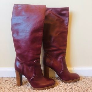 Beautiful Michael Kors Burgandy High Heeled Boots